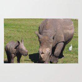 Baby Rhino & Mama Rug