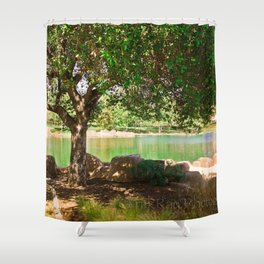 tree by the lake || color Shower Curtain