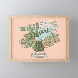 Desert Dreamin' Framed Mini Art Print