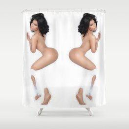 White bath Shower Curtain