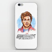star lord iPhone & iPod Skins featuring Star Lord by Nicolaine