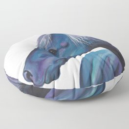 Blue Horse Floor Pillow