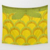 pineapple Wall Tapestries featuring Pineapple by Kakel