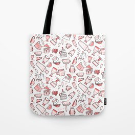 Filled with Holiday Spirit Christmas Cups Tote Bag