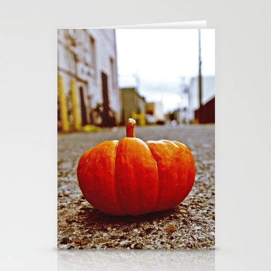 Alleyway pumpkin Stationery Cards