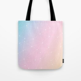 Rainbow Watercolor Astronomy Tote Bag