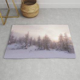 Sunlight and spruce forest Rug