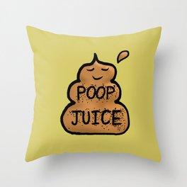 Poop Juice Throw Pillow
