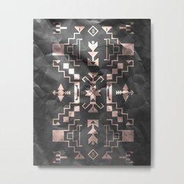Rose Gold Geometric Metal Print