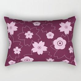 Sakura blossom - burgundy Rectangular Pillow