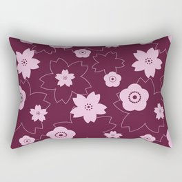 Sakura blossom - burgundy Rectangular Pillow