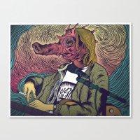 seahorse Canvas Prints featuring Seahorse by Dewey Guyen