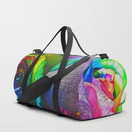 Rainbow Roses 20 Duffle Bag