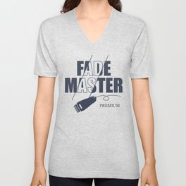 Fade Master Barber Theme Unisex V-Neck