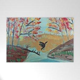 Autumn Duck Pond Welcome Mat