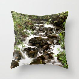 Mountain Creek - Summer Scene #decor #society6 #buyart Throw Pillow