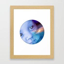 Galaxy Baby Framed Art Print