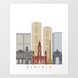 Caracas skyline poster Art Print