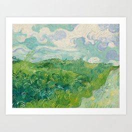 Green Wheat Fields, Auvers, 1890, Vincent van Gogh Art Print