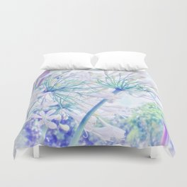 African Lilies (Agapanthus) Duvet Cover