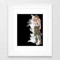 tomb raider Framed Art Prints featuring Tomb Raider by Robbie Drew Dixon