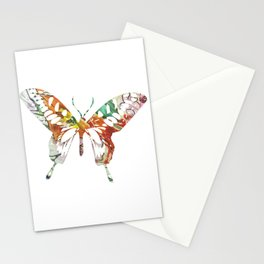 Colorful butterfly fabric art Stationery Cards