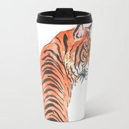 Tiger floral watercolor Travel Mug