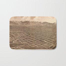 Map Of Salt Lake City 1875 Bath Mat