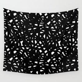 B&W Freeform Wall Tapestry
