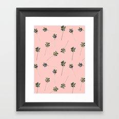 Palms on Pink Framed Art Print