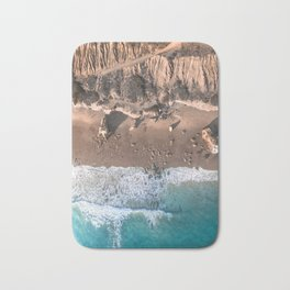 Aerial view of El Matador Beach in Malibu, CA Bath Mat
