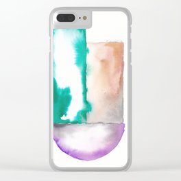 180914 Minimalist Geometric Watercolor 7 Clear iPhone Case