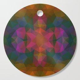 Triangles design in dark and bright colors Cutting Board
