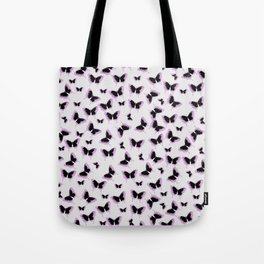 Black and pink butterflies Tote Bag