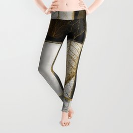 Fallen Gold Patchwork Leggings