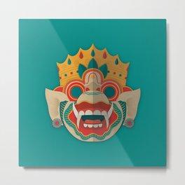 Paper Mask - Hanuman Metal Print