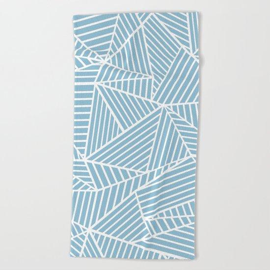 Ab Lines Sky Blue Beach Towel