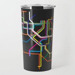 amsterdam metro map Travel Mug