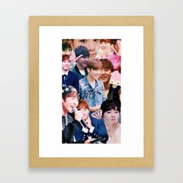 Seungkwan Collage Framed Art Print