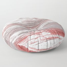 Gray red abstract Floor Pillow