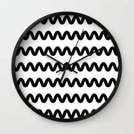 Squiggle pattern Wall Clock