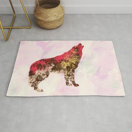 Abstract Wolf Rug