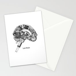 Left Brain Stationery Cards