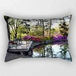 Muscogee (Creek) Nation - Honor Heights Park Azalea Festival, No. 02 of 12 Rectangular Pillow