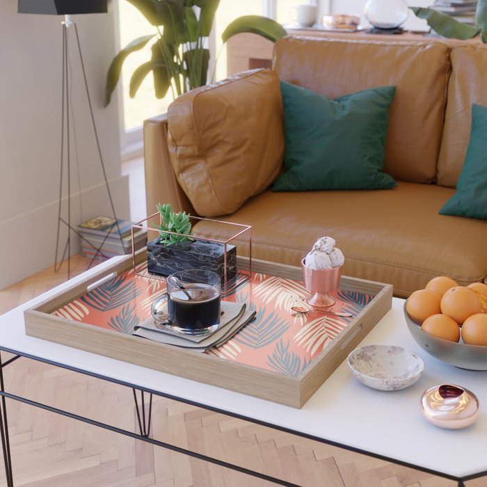 Orange Palms Serving Tray