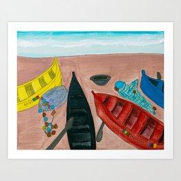Ghana's Cape Coast Art Print