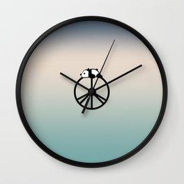 Peace and panda Wall Clock