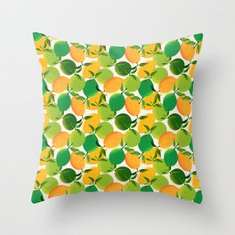 Lemons and Limes Throw Pillow