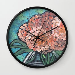 Orange Bloosoms Wall Clock