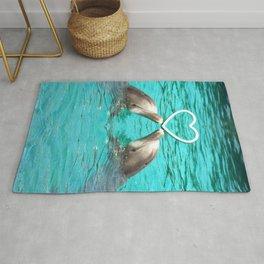 Dolphin Love Rug